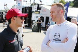 #31 Action Express Racing Cadillac DPi: Pipo Derani #55 Mazda Team Joest Mazda DPi: Olivier Pla