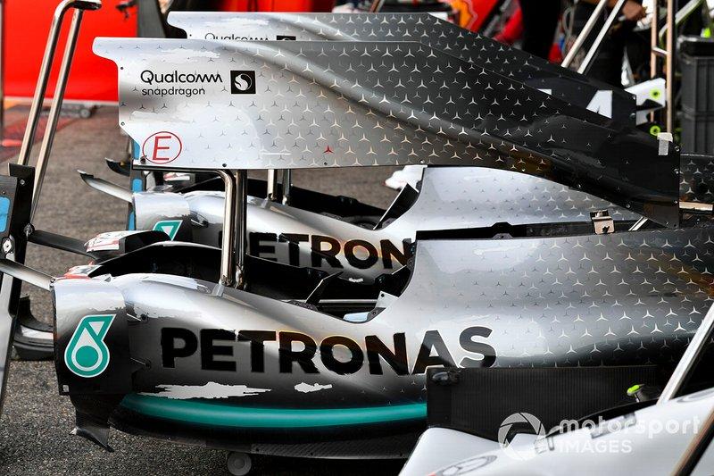 Cubierta del motor del Mercedes AMG F1 W10