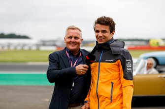 Johnny Herbert, Sky Sports F1, with Lando Norris, McLaren