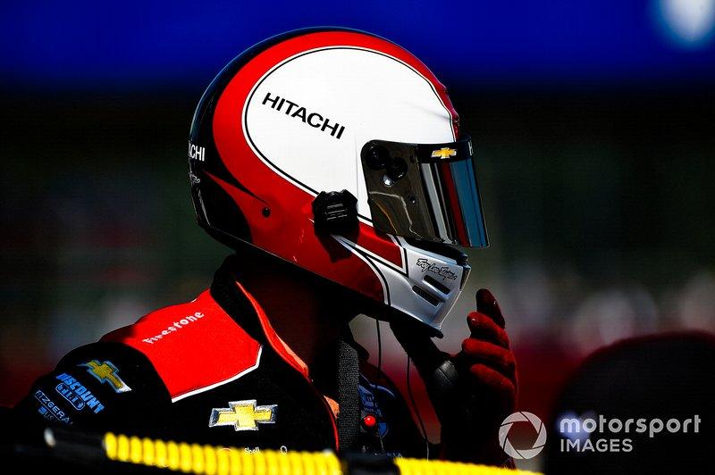Josef Newgarden, Team Penske Chevrolet, Patrick Stewart, Fueler