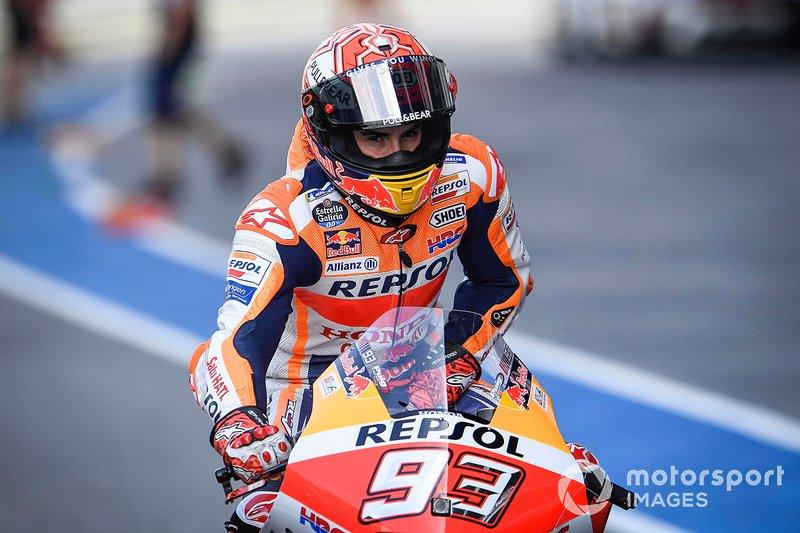 Márquez es el tercero en ganar seis títulos de la máxima categoría. Antes que él lo hicieron Valentino Rossi y Giacomo Agostini.