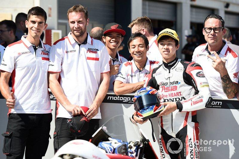 Second place Ai Ogura, Honda Team Asia