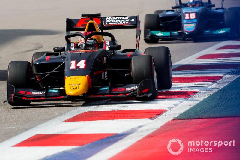 Yuki Tsunoda, Jenzer Motorsport precede Federico Malvestiti, Jenzer Motorsport