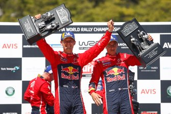 Podium : les vainqueurs Sébastien Ogier, Julien Ingrassia, Citroën World Rally Team Citroen C3 WRC