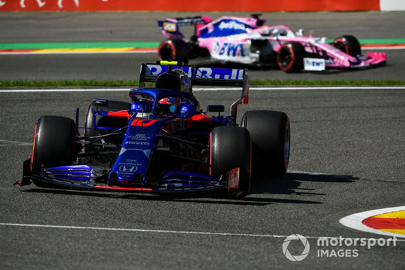 Pierre Gasly, Toro Rosso STR14, Sergio Pérez, Racing Point RP19