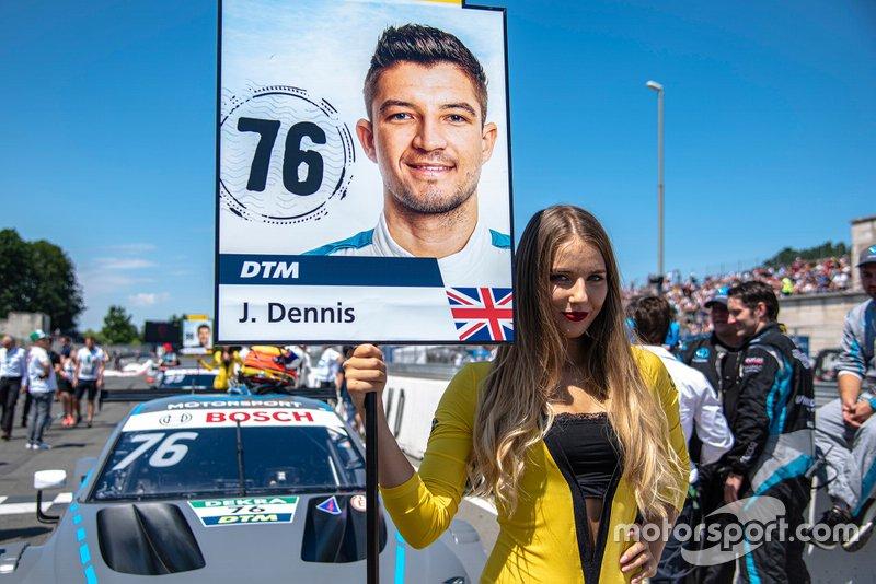 Grid girl, Jake Dennis, R-Motorsport, Aston Martin Vantage AMR