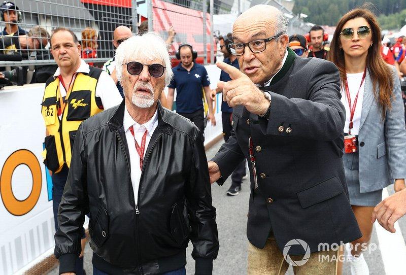 Bernie Ecclestone met Carmelo Carmelo Ezpeleta, CEO Dorna Sports