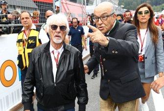 Bernie Ecclestone with Carmelo Carmelo Ezpeleta, CEO Dorna Sports