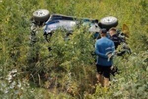 Hayden Paddon, M-Sport Ford WRT Ford Fiesta WRC, crash