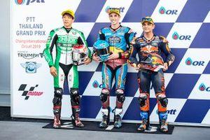Ganador de la pole Alex Márquez, Marc VDS Racing, segundo Tetsuta Nagashima, SAG Racing Team, tercero Jorge Martin, KTM Ajo