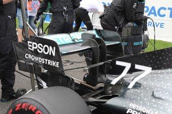 Valtteri Bottas, Mercedes AMG W10 achtervleugel detail