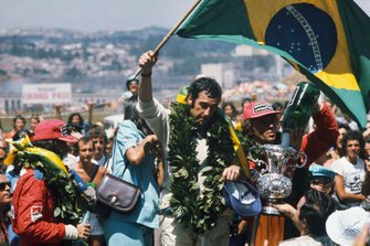 Race winner Carlos Pace, Brabham Ford