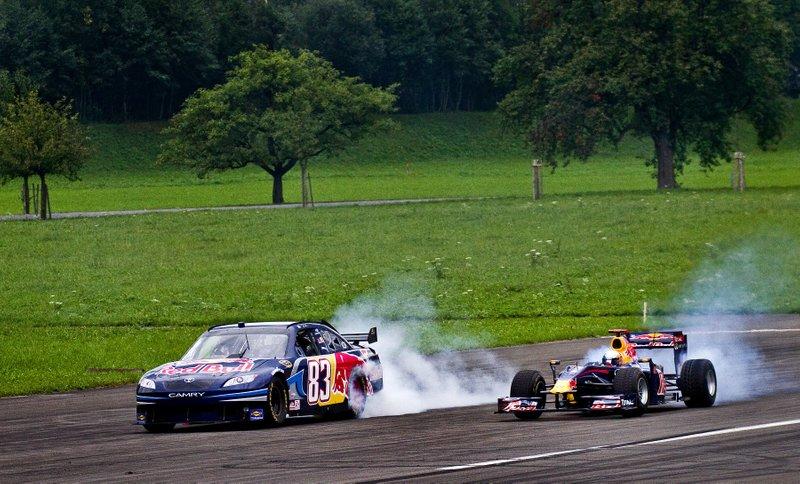Patrick Friesacher, Toyota Camry, Sebastien Buemi, Red Bull F1