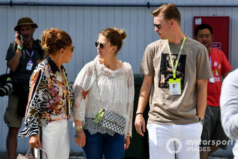 Gina-Maria Schumacher in the paddock