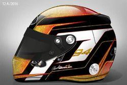 El nuevo casco de Pascal Wehrlein