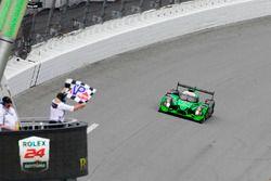 #2 ESM Racing Honda HPD Ligier JS P2: Scott Sharp, Ed Brown, Johannes van Overbeek, Pipo Derani takes the win