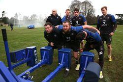 Les joueurs de l'équipe de rugby de Bath