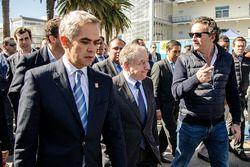 (Izq-Der) Miguel Ángel Mancera Jefe de Gobierno de la Ciudad de México, Jean Todt Presidente de la F