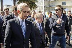 Miguel Ángel Mancera, Head of Government of Mexico City, Jean Todt, FIA President and Alejandro Agag, CEO Formula E