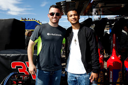 Austin Dillon, Richard Childress Racing Chevrolet with Actor Jordan Fisher