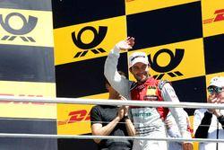 Podio: il secondo classificato Mike Rockenfeller, Audi Sport Team Phoenix