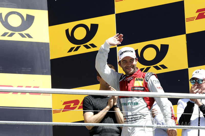 Podium: secon place Mike Rockenfeller, Audi Sport Team Phoenix