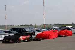 The cars of René Rast, Audi Sport Team Rosberg, Audi RS 5 DTM, Jamie Green, Audi Sport Team Rosberg, Audi RS 5 DTM, Nico Müller, Audi Sport Team Abt Sportsline, Audi RS 5 DTM in parc ferme
