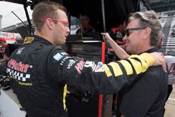 Sébastien Bourdais with team co-owner Jimmy Vasser, Dale Coyne Racing with Vasser-Sullivan Honda