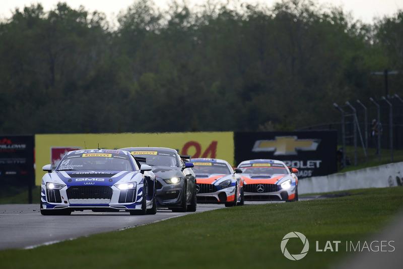 #14 GMG Racing Audi R8 LMS GT4: James Sofronas, #55 PF Racing Ford Mustang GT4: Jade Buford, /gts72, #74 Robinson Racing Mercedes-AMG GT4: Gar Robinson