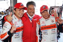Pole sitters #8 Autobacs Racing Team Aguri Honda NSX Concept GT: Tomoki Nojiri, Takuya Izawa