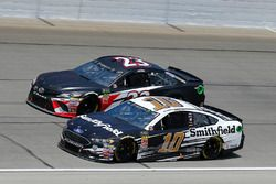 Aric Almirola, Stewart-Haas Racing, Ford Fusion Smithfield and Gray Gaulding, BK Racing, Toyota Camry BK Racing
