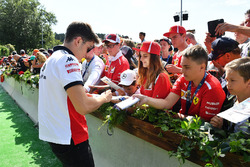 Charles Leclerc, Sauber signs autographs for the fans