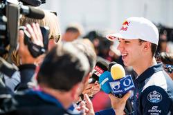 Pierre Gasly, Toro Rosso, parle aux médias
