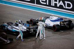 Lewis Hamilton, Mercedes AMG F1, Valtteri Bottas, Mercedes AMG F1 and Felipe Massa, Williams celebra