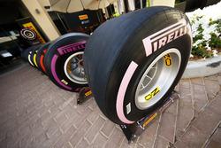 The new 2018 range of Pirelli F1 tyres