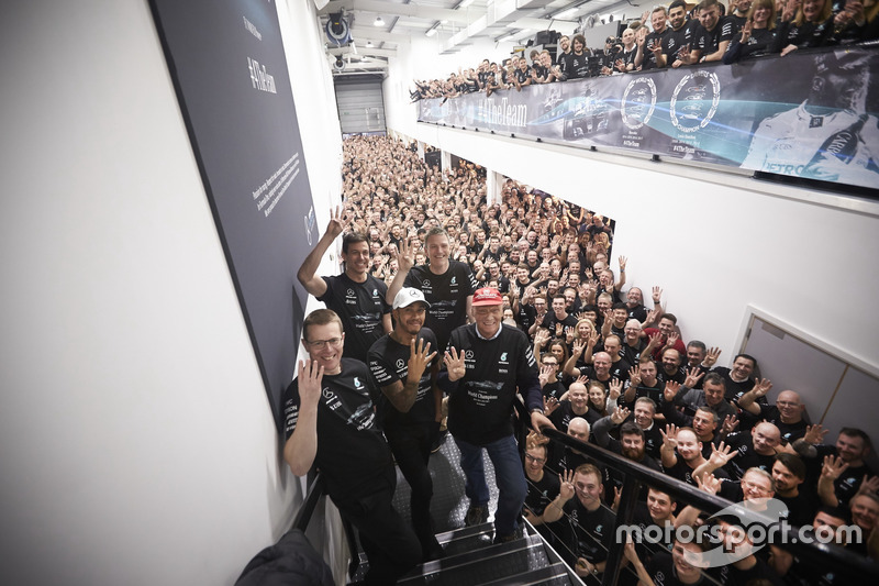 Lewis Hamilton, Mercedes AMG F1, Niki Lauda, Non-Executive Chairman, Mercedes AMG F1, Toto Wolff, Ex