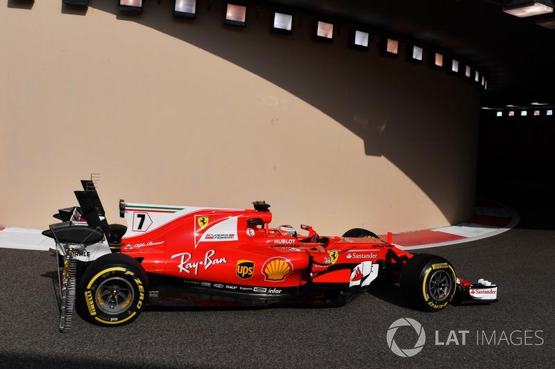 Kimi Raikkonen, Ferrari SF70H, aero sensor on rear wing