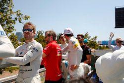 Sam Bird, DS Virgin Racing, Nick Heidfeld, Mahindra Racing, Daniel Abt, Audi Sport ABT Schaeffler, Sébastien Buemi, Renault e.Dams nella drivers parade