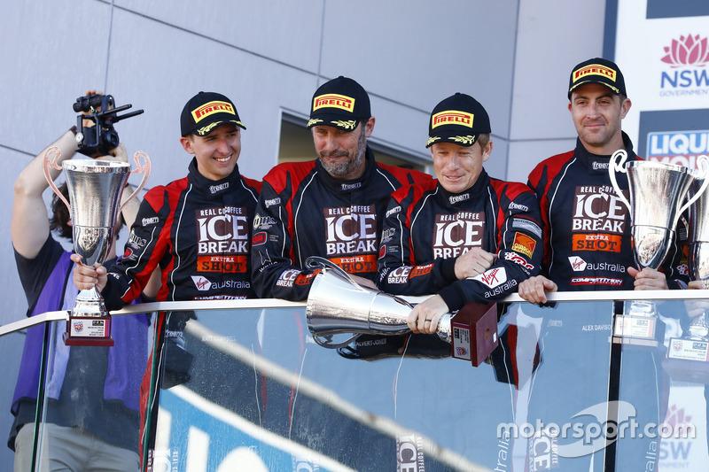 Podium: #12 Competition Motorsports Porsche 991 GT3R: David Calvert-Jones, Patrick Long, Matt Campbell, Alex Davison