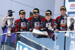 Podium: #12 Competition Motorsports Porsche 991 GT3R: David Calvert-Jones, Patrick Long, Matt Campbell, Alex Davison