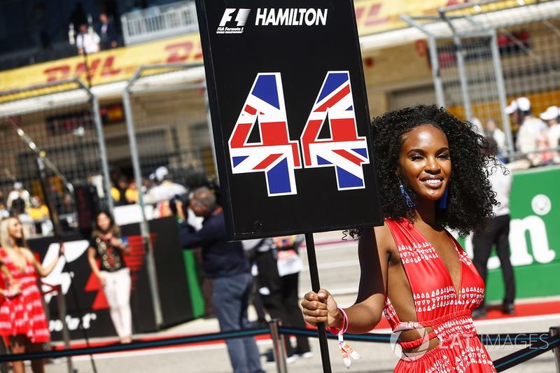 Grid girl per Lewis Hamilton, Mercedes AMG F1