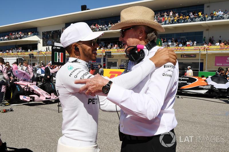 Lewis Hamilton, Mercedes AMG F1 y Mansour Ojjeh, TAG