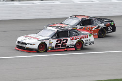 Ryan Blaney, Team Penske Ford, Christopher Bell, Joe Gibbs Racing Toyota