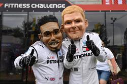 Lewis Hamilton, Mercedes-AMG F1 caricature and Valtteri Bottas, Mercedes-AMG F1 caricature