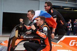 I vincitori della gara #26 G-Drive Racing Oreca 07 - Gibson: Roman Rusinov, Andrea Pizzitola, Jean Eric Vergne