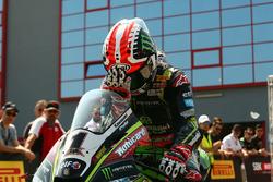Pole sitter Jonathan Rea, Kawasaki Racing