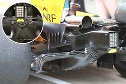 McLaren MCL33, comparazione del diffusore