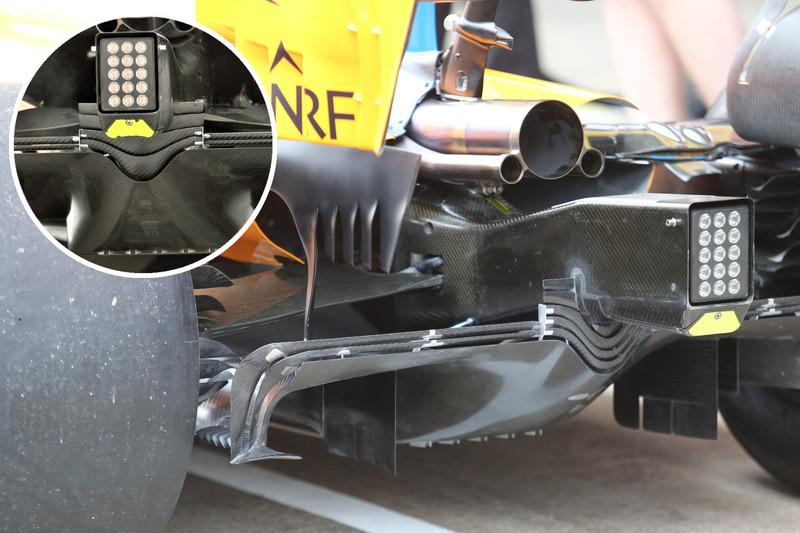 McLaren MCL33, comparación del difusor