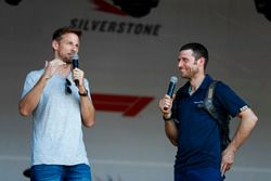 Guy Martin talks to Jenson Button on stage