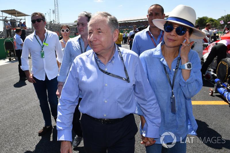 Jean Todt, presidente de la FIA y su mujer, Michelle Yeoh